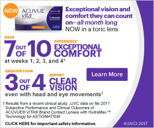 Learn more about Acuvue Vita for Astigmatism